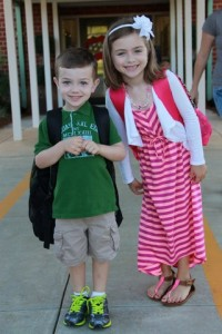 Peyton And Cooper Wingate Go To School