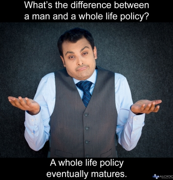 What's the difference between a man and a whole life policy?