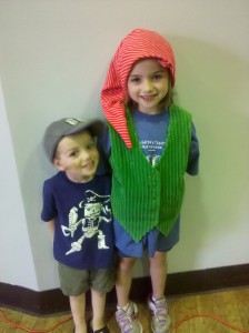 Peyton Wingate as dopey with Cooper Wingate