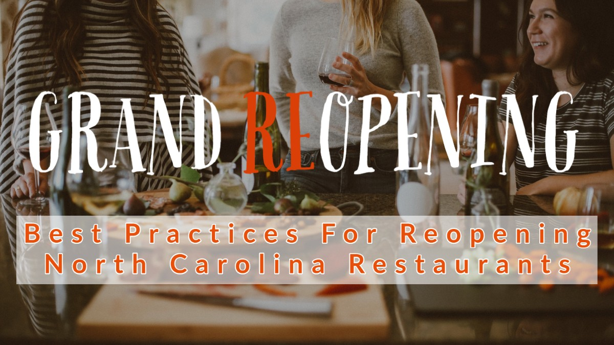 COVID-19 Best Practices For Reopening NC Restaurants