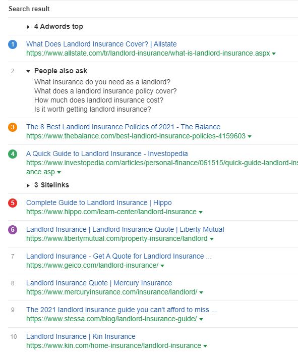 Landlord Insurance - Google Search Results