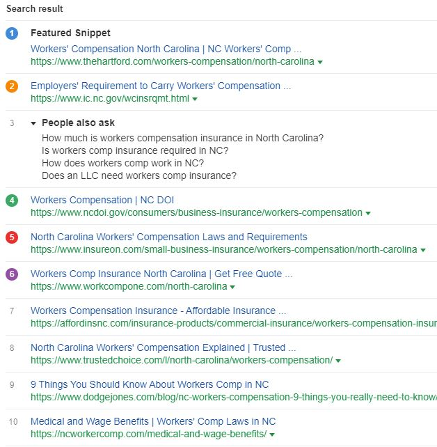 workers compensation insurance top ten google search results